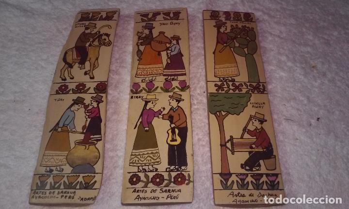 TABLAS ARTES DE SARHUA (AYACUCHO-PERÚ) LOTE TRES TABLAS (Arte - Étnico - América)