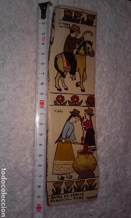 Arte: TABLAS ARTES DE SARHUA (AYACUCHO-PERÚ) LOTE TRES TABLAS - Foto 2 - 189564918