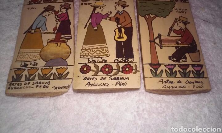 Arte: TABLAS ARTES DE SARHUA (AYACUCHO-PERÚ) LOTE TRES TABLAS - Foto 8 - 189564918