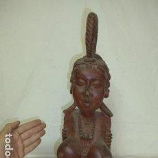 Arte: ANTIGUA GRAN ESCULTURA DE MADERA TALLADA AFRICANA, ORIGINAL, DE TRIBU AFRICANA. AFRICA.. Lote 163980242
