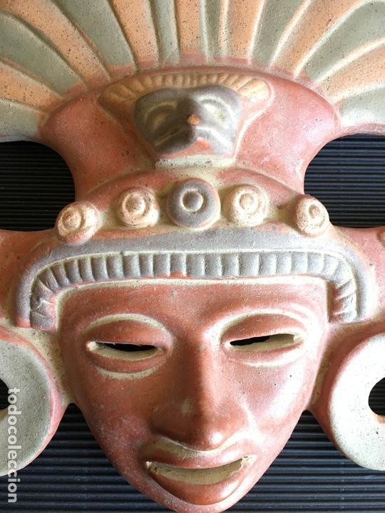 Arte: FANTASTICA MASCARA AZTECA? DE TERRACOTA POLICROMADA, FIRMADA - Foto 4 - 164592010