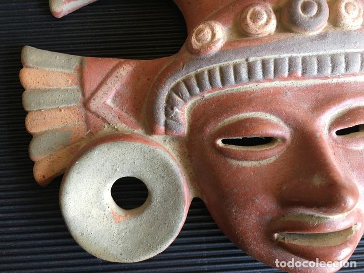 Arte: FANTASTICA MASCARA AZTECA? DE TERRACOTA POLICROMADA, FIRMADA - Foto 5 - 164592010