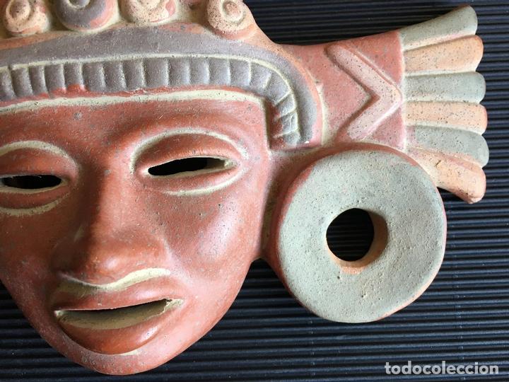 Arte: FANTASTICA MASCARA AZTECA? DE TERRACOTA POLICROMADA, FIRMADA - Foto 6 - 164592010