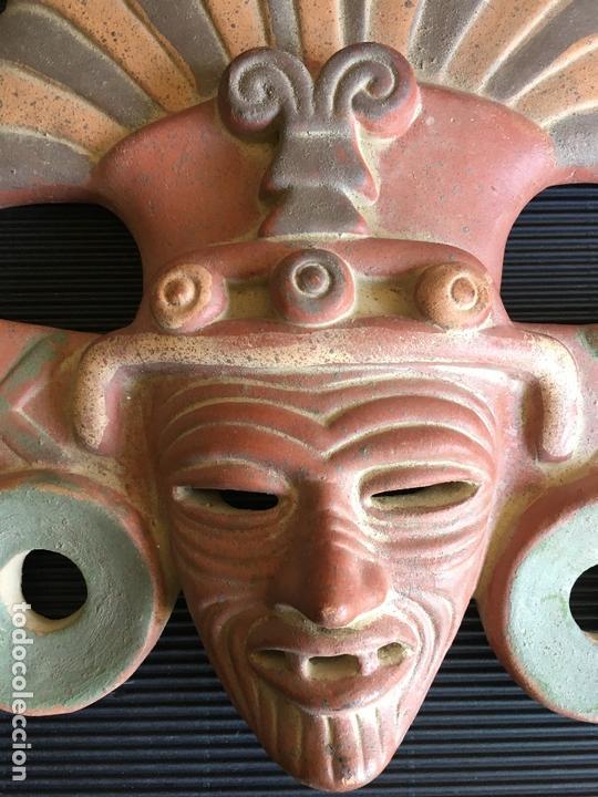Arte: FANTASTICA MASCARA AZTECA? DE TERRACOTA POLICROMADA, FIRMADA - Foto 5 - 164592454