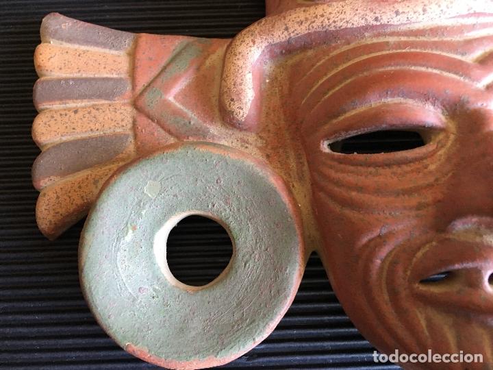 Arte: FANTASTICA MASCARA AZTECA? DE TERRACOTA POLICROMADA, FIRMADA - Foto 6 - 164592454