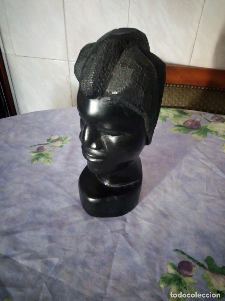 Arte: Precioso busto africano tallado en ébano.pieza maciza. - Foto 2 - 164660810