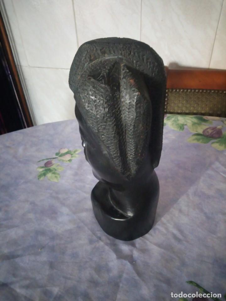 Arte: Precioso busto africano tallado en ébano.pieza maciza. - Foto 3 - 164660810