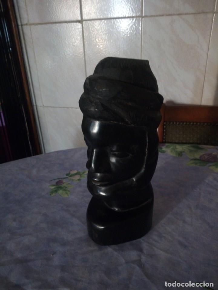 Arte: Precioso busto africano tallado en ébano,pieza maciza. - Foto 2 - 164661350