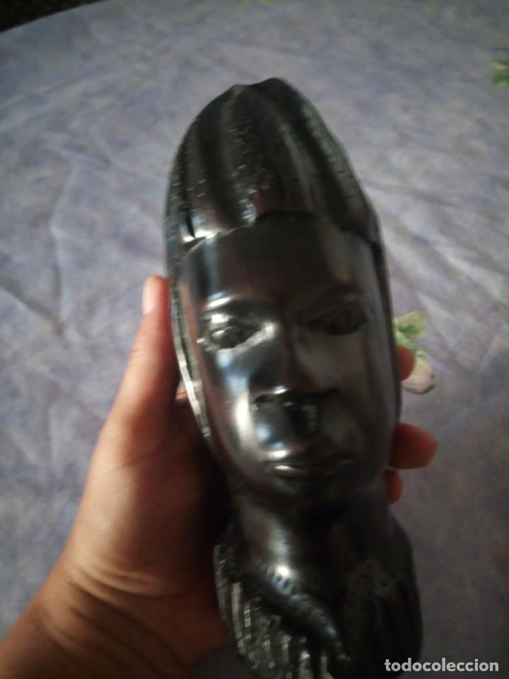 Arte: Precioso busto africano tallado en ébano,pieza maciza - Foto 6 - 164661894