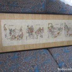 Arte: BONITO CUADRO DE LAS BATALLAS DE LA CONQUISTA DE MEXICO. ESPAÑOLES CONTRA INDIOS.. Lote 165216998