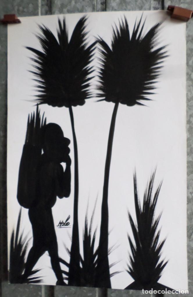 PINTURA AFRICANA -- FIRMA +/- NOLO (Arte - Étnico - África)