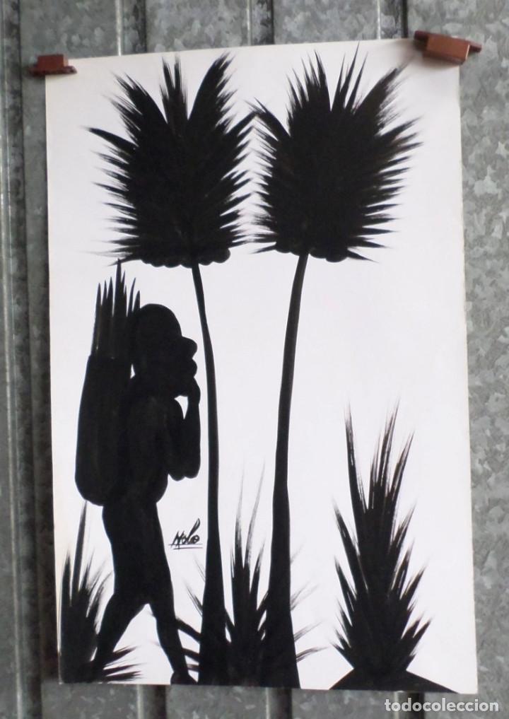 Arte: Pintura africana -- Firma +/- Nolo - Foto 2 - 165390894