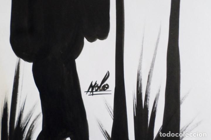 Arte: Pintura africana -- Firma +/- Nolo - Foto 3 - 165390894
