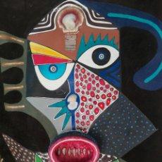 Arte: TOTEM AFRICANO DE GRAN TAMAÑO BURKINA FASO ??? FIRMADO. Lote 165443669