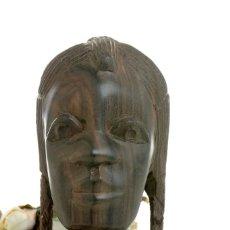 Arte: ARTE AFRICANO, ESCULTURA AFRICANA, FIGURA AFRICANA, TALLA AFRICANA, ARTE NIGERIA, BUSTO, ESTATUA AFR. Lote 167127780