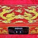Arte: CAJA CHINA. MADERA LACADA. DORADA A LA HOJA DE ORO. DINASTÍA CH'ING, PERIODO KUANG HSU. 1875/1908. Lote 168578524