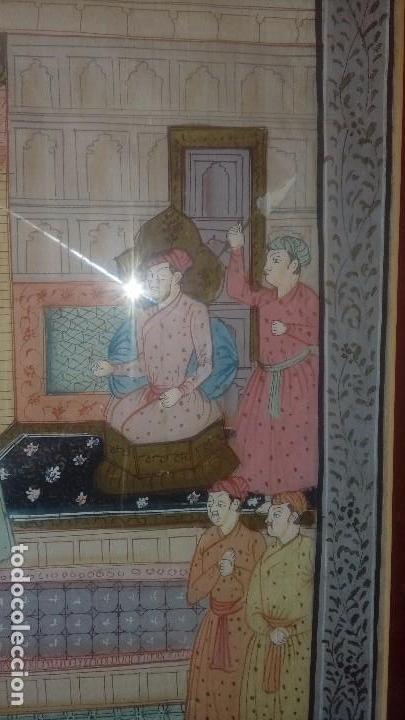 Arte: Escuela de Rajastan Escena cortesana - Foto 2 - 169002852