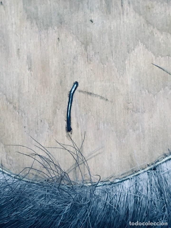 Arte: CARA ROSTRO ESQUIMAL ESKIMO RESINA MADERA PIEL PELO ALASKA 1973 23X22X8CMS - Foto 11 - 169027520