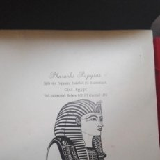 Arte: TRES PAPIROS TRAIDOS DE EGIPTO COMPRADOS EN GIZA EN EL AÑO 1988 CON CARPETA ORIGINAL DE LA TIENDA. Lote 169038316