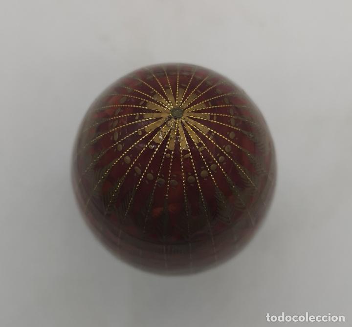 Arte: Magnífico huevo antiguo Ruso de colección en madera pintado a mano y firmado . - Foto 7 - 235015045