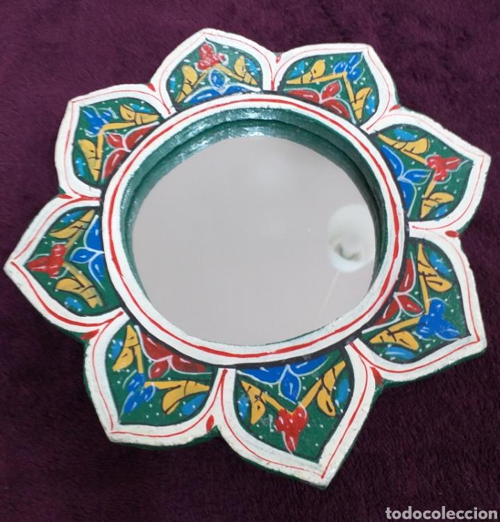Espejo De Artesanía Marroquí 20 Cm Diámetro