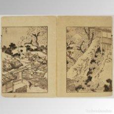 Arte: EL FUJI ENTRE FLORES (HOKUSAI SERIE CIEN VISTAS DEL MONTE FUJI, VOL I Nº 29) - HOKUSAI. Lote 169210808