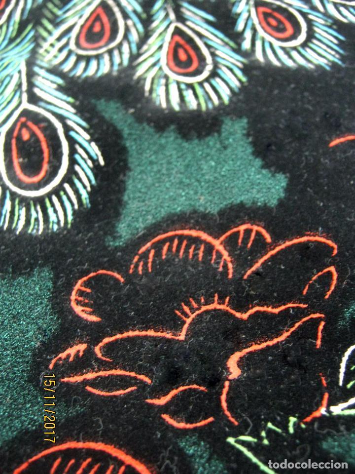 Arte: Vintage tapiz tipo estandarte arte Japon 84 cm Pavo real - Foto 2 - 169236606