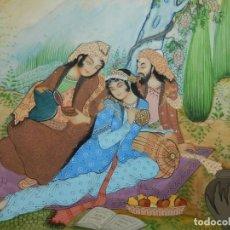 Arte: PINTURA SOBRE LÁMINA DE BAQUELITA O SIMILAR. RAJASTHAN. INDIA. MEDIADOS DEL SIGLO XX.. Lote 170300832