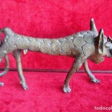 Arte: FIGURA ETNICA ASIATICA - ANIMAL MITOLOGICO DE LA FECUNDIDAD EN BRONCE MACIZO - PIEZA DE COLECCION. Lote 170954735