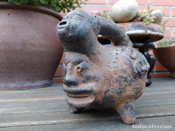 Arte: Vasija en forma de trípode. Barro, terracota...¿precolombina? - Foto 7 - 171325952