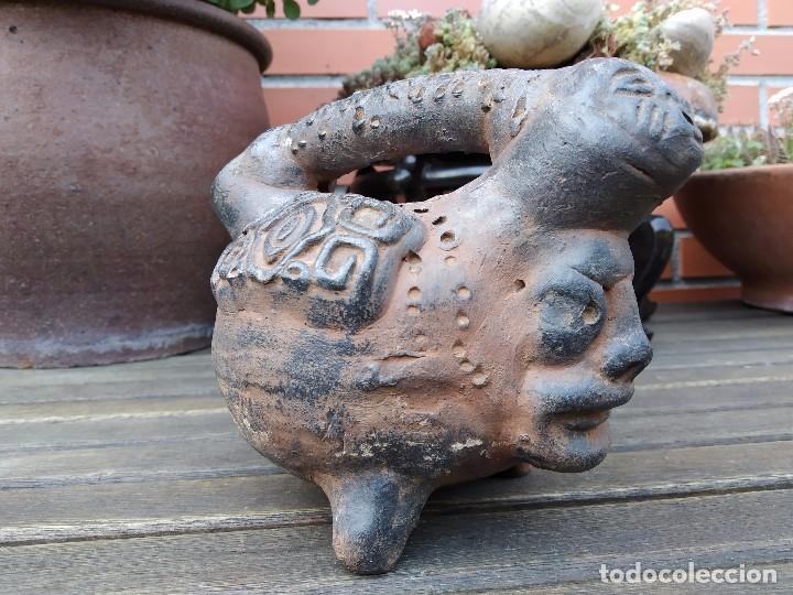 Arte: Vasija en forma de trípode. Barro, terracota...¿precolombina? - Foto 8 - 171325952