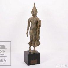 Arte: ESCULTURA DE BRONCE IMAGEN DEL REY PHRAYA CHAKKRI / BUDA - AYUTHYA / AYUTTHAYA, TAILANDIA, C. 1782. Lote 171393650
