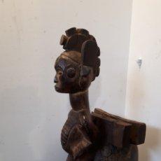 Arte: ESCULTURA TALLA AFRICANA 36 CM ALTO. Lote 172293287