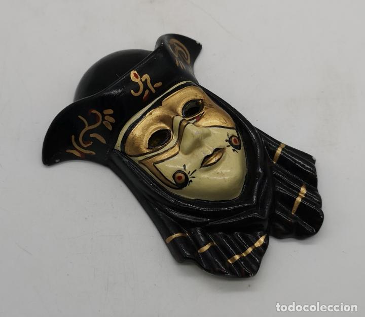 Arte: Bella máscara antigua Veneciana en porcelana biscuit policromada a mano . - Foto 2 - 172423500
