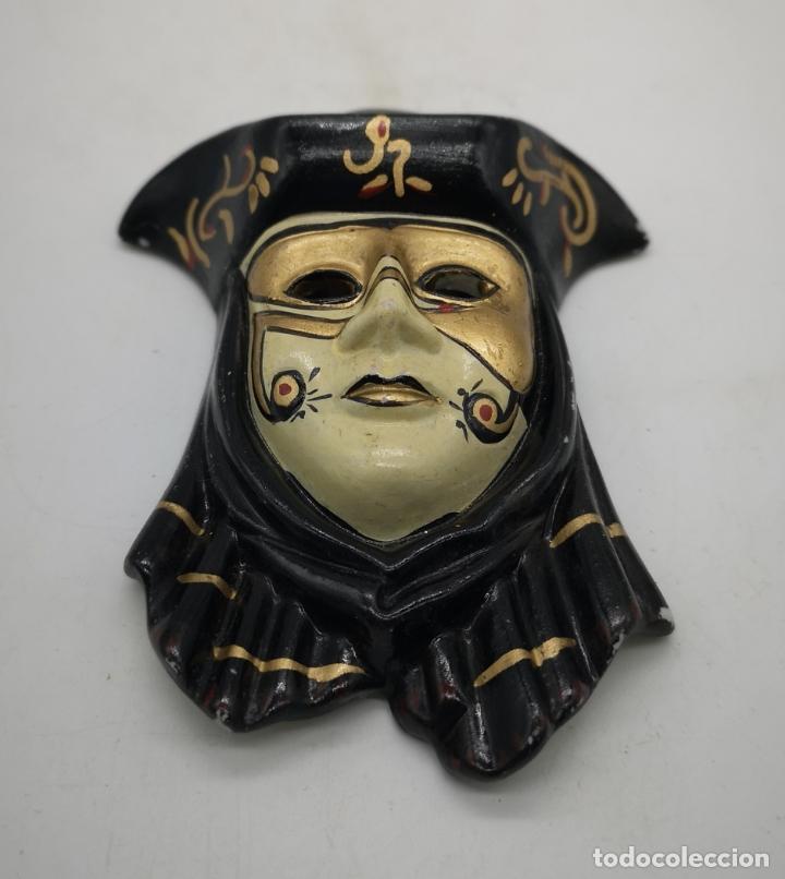 Arte: Bella máscara antigua Veneciana en porcelana biscuit policromada a mano . - Foto 3 - 172423500