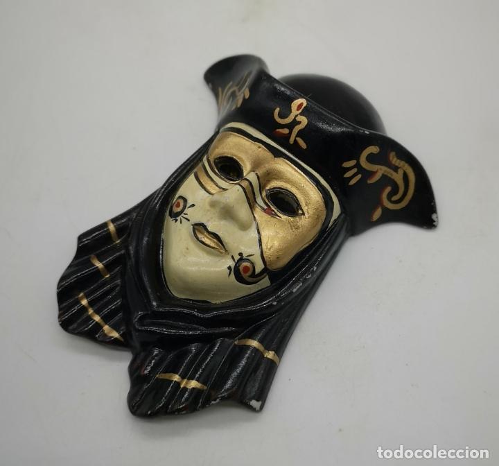 Arte: Bella máscara antigua Veneciana en porcelana biscuit policromada a mano . - Foto 4 - 172423500