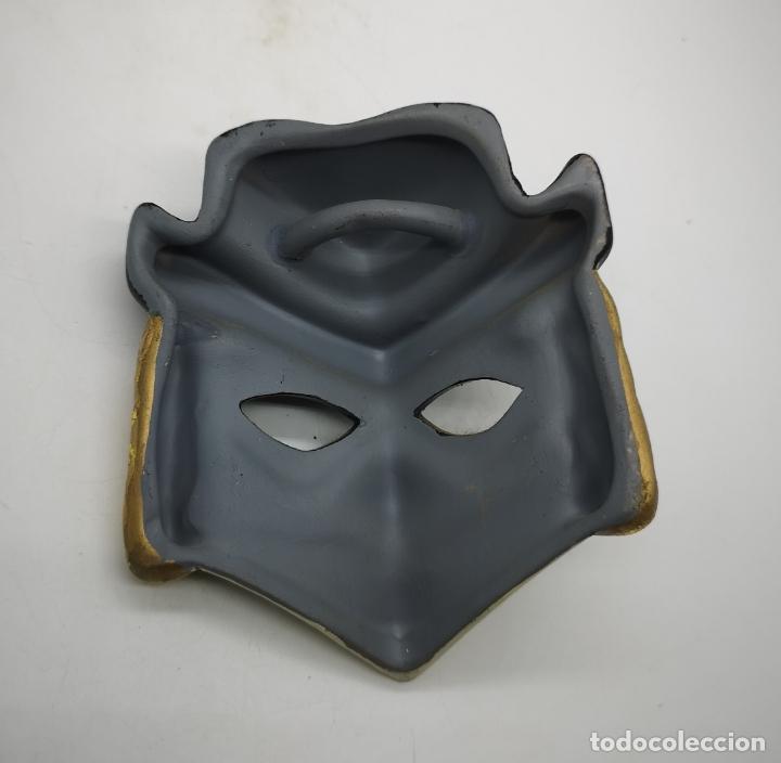 Arte: Bella máscara antigua Veneciana en porcelana biscuit policromada a mano . - Foto 5 - 172426594