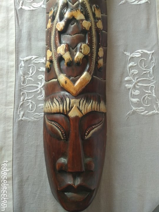 Arte: ESCULTURA ÁFRICA DE MADERA TIPO BAMBÚ MUY LIGERA). MÁS ARTÍCULOS ANTIGUOS EN MÍ PERFIL - Foto 2 - 172884315