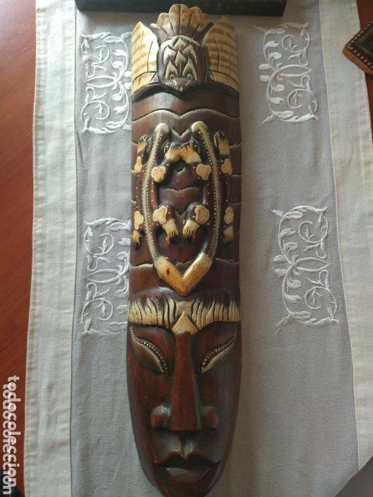 Arte: ESCULTURA ÁFRICA DE MADERA TIPO BAMBÚ MUY LIGERA). MÁS ARTÍCULOS ANTIGUOS EN MÍ PERFIL - Foto 3 - 172884315
