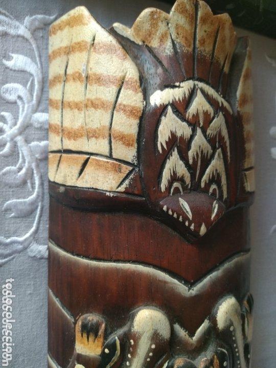 Arte: ESCULTURA ÁFRICA DE MADERA TIPO BAMBÚ MUY LIGERA). MÁS ARTÍCULOS ANTIGUOS EN MÍ PERFIL - Foto 4 - 172884315