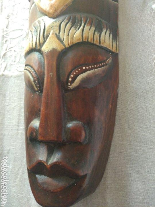 Arte: ESCULTURA ÁFRICA DE MADERA TIPO BAMBÚ MUY LIGERA). MÁS ARTÍCULOS ANTIGUOS EN MÍ PERFIL - Foto 5 - 172884315