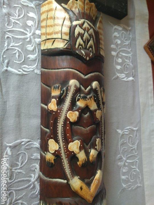 Arte: ESCULTURA ÁFRICA DE MADERA TIPO BAMBÚ MUY LIGERA). MÁS ARTÍCULOS ANTIGUOS EN MÍ PERFIL - Foto 6 - 172884315