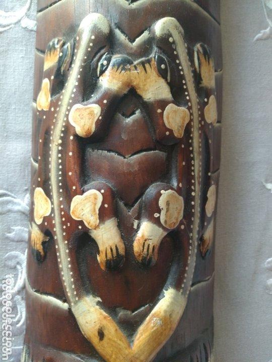 Arte: ESCULTURA ÁFRICA DE MADERA TIPO BAMBÚ MUY LIGERA). MÁS ARTÍCULOS ANTIGUOS EN MÍ PERFIL - Foto 7 - 172884315