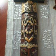 Arte: ESCULTURA ÁFRICA DE MADERA TIPO BAMBÚ MUY LIGERA). MÁS ARTÍCULOS ANTIGUOS EN MÍ PERFIL. Lote 172884315