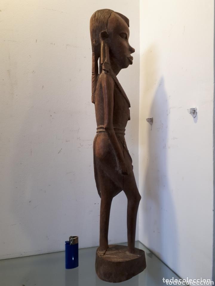 Arte: Elegante talla de madera africana 51 cm - Foto 3 - 172890019