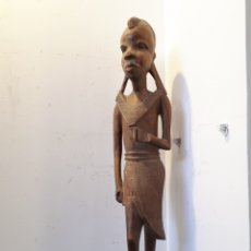 Arte: ELEGANTE TALLA DE MADERA AFRICANA 51 CM. Lote 172890019