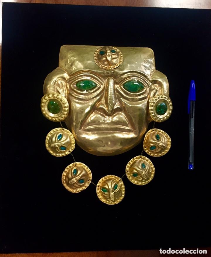 Arte: Idolo Inca (imitacion). Chapa recubierta de Oro 24 kilates. - Foto 2 - 173533500