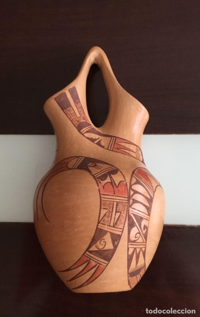 ANTIGUA VASIJA DOBLE ABERTURA (Arte - Étnico - América)