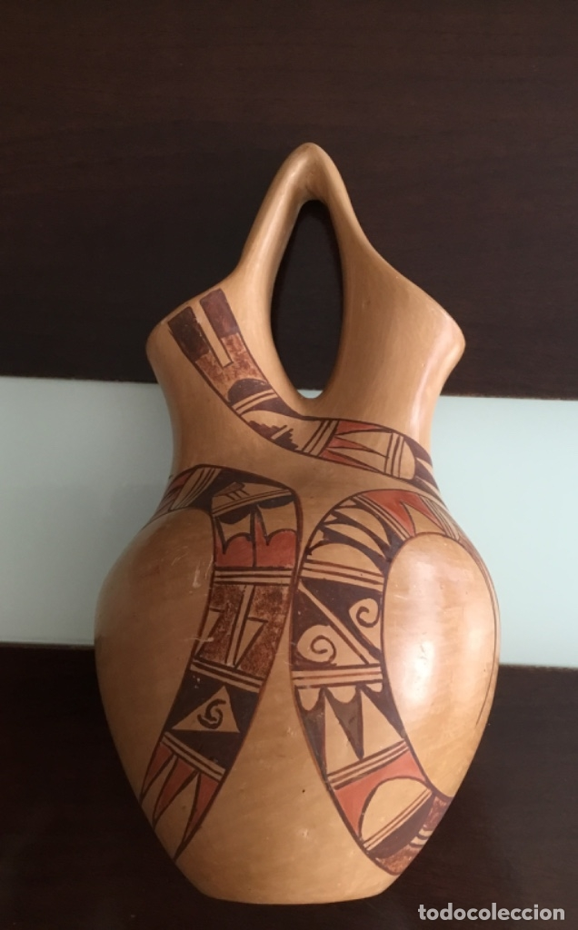 Arte: Antigua vasija doble abertura - Foto 2 - 173651600