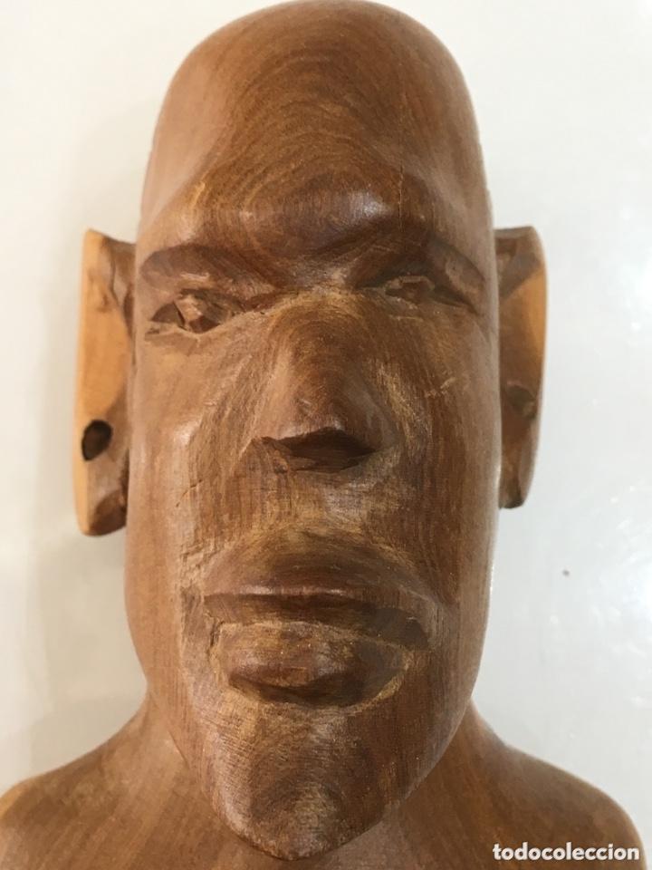 Arte: TALLA DE MADERA BUSTO AFRICANO - Foto 4 - 173901558